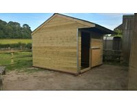 12 x 12 stable used . new kick boards OSB3 mobile shelter Used Coroline roof and ridge