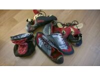 La Sportiva Climbing Shoes +bag of chalk