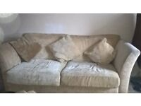 Light Brown/Dark Cream 3 seater sofa
