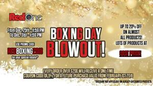 - Up to 20 % OFF -Red One Music Boxing Day Blowout- Come in store or shop online for great deals.