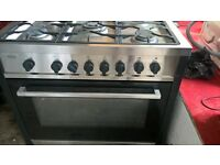 Silver Range gas cooker...Mint 90cm
