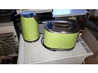 Sage green 'NEXT' kettle and toaster - excellent working order.