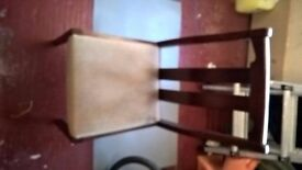 Dark wood table and 4 chairs reasonable condition some marks hence price £15