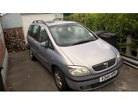 vauhall zafira 2000 reg for spares or repairs or a new project
