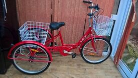 £300 Immaculate Ladies Red Tricycle