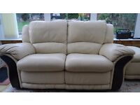 Leather Good Quality 3 Seater and 2 Seater Recliner Sofas