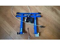 Tacx cycle track turbo trainer in blue