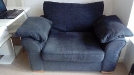 Next 2 seater sofa and cuddle chair in dark grey