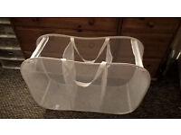 Laundry basket bin bag sorter net foldable