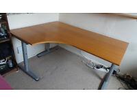 Corner Desk left - IKEA Galant (beech/oak effect)