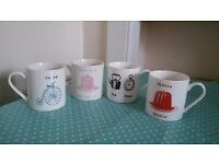 Set of 4 mugs for sale
