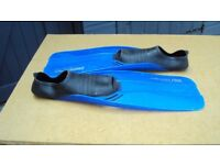 Fins for snorkellling etc, size 3-5 (34-36), good condition, blue, £4