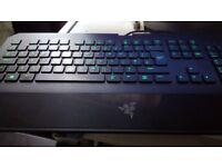 Razer Deathstalker keyboard and Razer Naga mouse