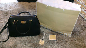 Brand New Michael Kors Black Saffiano Leather Large Satchel