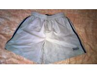 "Mens shorts - Lonsdale of London -unused size M Pale Grey/Navy stripe length 16.5 "" inside leg 5.5 """