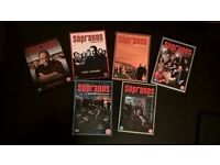 Sopranos dvds seasons 1 - 5 complete and part 1 of season 6