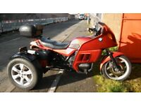 bmw k75 trike mot for one year good running trike selling as i have another one on the road
