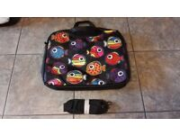 FISH PATTERN - DECORATIVE 15.6 LAPTOP SLEEVE / BAG WITH SHOULDER STRAP. Dims 440mm x 340mm x 50mm