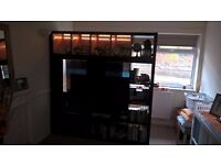 IKEA TV unit with lights