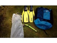 Mares Dive fins with mesh bag and snorkel. Been in garage so needs a good clean. Bargain .