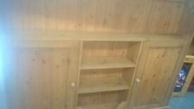 solid pine country house large 6ft wide sideboard / storage unit delivery avalible
