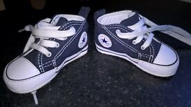 Baby Nike and Converse Trainers size2