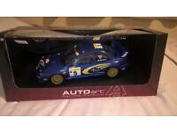 1 : 18 scale Auto Art Racing Division. Subaru Impreza WRC