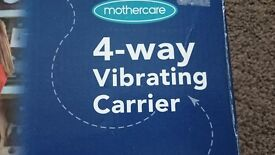 Fantastic Mothercare 4 way vibrating baby carrier
