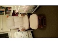 Tutti Bambini Reclining Glider Chair and Matching Footstool