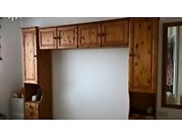 solid pine overbed storage unit