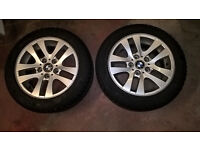 "4 x BMW 16"" alloy wheels 205/55/16 Vredstein Snowtrac 2 and Cooper snow winter tyres"