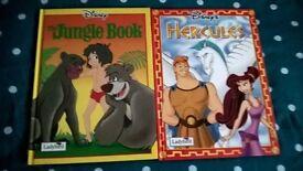 Vintage Hercules & Jungle book hardback books