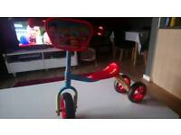 Paw patrol sit and ride scooter with helmet
