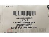 J Cole Tickets ( 2 Tickets for £100 below face value available @ Manchester Arena 21st October)