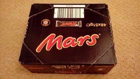 CASE OF 48 MARS BARS UNOPENED & IN DATE