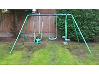 SOLD Childrens garden swing set