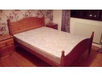 Bed & bedroom furniture set for sale