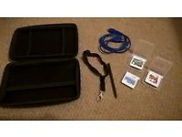 3 DS games and carry case