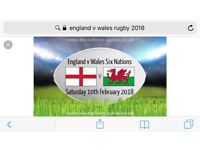 England v Wales 6 nations Twickenham Saturday 10th February 2018