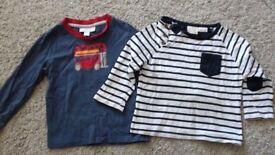 bundle of boys tops 1,5 to 24 mths