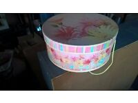 floral round large hat box