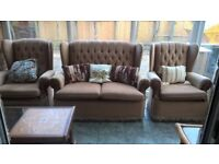 2 seater and 2 armchairs