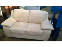 Cream 2 seater sofa. Italian made