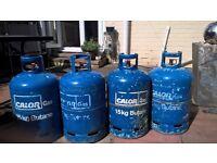 EMPTY CALOR GAS BOTTLES x3