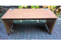 Office Desk - Well built cherry veneer desk, very sturdy - GOOD CONDITION
