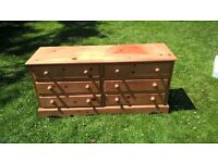 Waxed Solid Pine Chest of Drawers