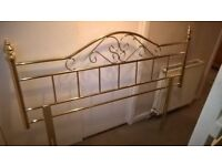 excellent condition king-size headboard gold coloured metal