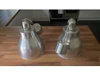 IKEA Aluminium Pendant Lamps (Pair) for Dining Room / Kitchen Lighting