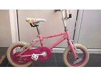 "Girls 12"" pink princess bike"