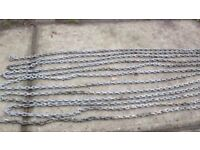 Boat galvanised anchor chain